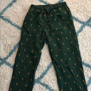 Green Polo pajama pants